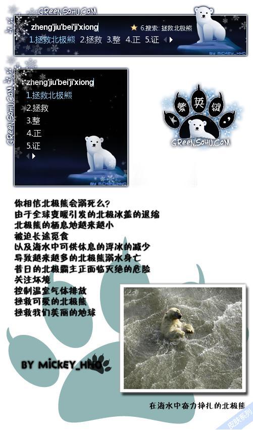搜狐绿色-拯救北极熊