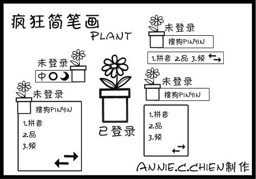 疯狂简笔画】Plant - 搜狗输入法 - 搜狗皮肤