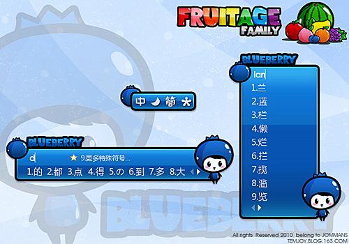 Blueberry Fruitage family