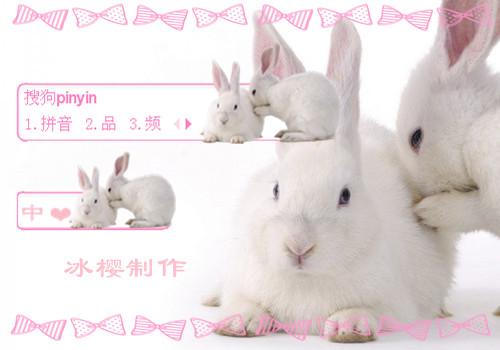 可爱小粉兔