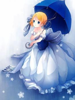 爱音乐的雨伞女孩