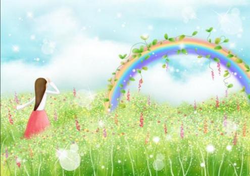 彩虹怎么画步骤和图解