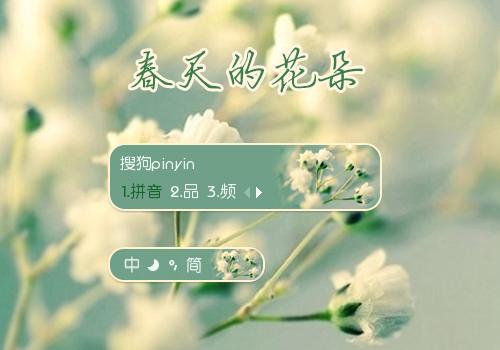 【雨欣】春天的花朵 - 搜狗拼音输入法 - 搜狗皮